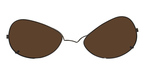 Michael Kors Mk703Clip-On Dark Brown