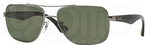 Ray Ban 0RB3483 Gunmetal with Crystal Green Polarized Lenses