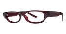 Modern Optical Candid Burgundy