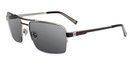 John Varvatos V788 Brushed Silver with Grey Lenses