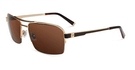 John Varvatos V788 Brushed Gold with Brown Lenses