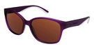 Columbia CORA LAKE Matte Translucent Plum w/ Polarized Brown Lenses