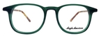 Anglo American AA402 Transparent Green with Demi Blonde Extra Temples TR17/DBEX