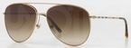 Burberry BE3072 Gold with Brown Gradient Lenses