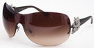 Bvlgari BV 6064 B Silver/Havana with Brown Gradient Lenses and Swarovski Crystals