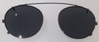 Chakra Eyewear Clip House Clip Brown with Grey Polarized Lenses