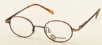 Modern Optical Cutie Antique Brown