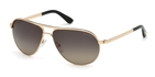 Tom Ford FT0144 Marko Shiny Rose Gold with Polarized Smoke Lenses