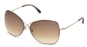 Tom Ford FT0250 Shiny Rose Gold with Gradient Brown Lenses