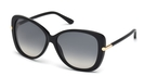 Tom Ford FT0324 Shiny Black with Gradient Smoke Lenses