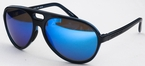 Costa Del Mar Grand Catalina Shiny Black with Polarized Brown/Blue Mirror Glass Lenses