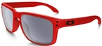 Oakley Holbrook OO9102 Matte Red with Grey Lenses