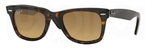Ray Ban RB2140 Wayfarer Havana w/ Crystal POLAR Brown Gradient
