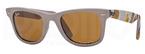 Ray Ban RB2140 Wayfarer Matte Beige w/ Brown Lenses