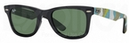 Ray Ban RB2140 Wayfarer Matte Black w/ Green Lenses