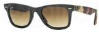Ray Ban RB2140 Wayfarer Matte Military Green w/ Brown Gradient Dark Brown Lenses
