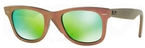 Ray Ban RB2140 Wayfarer Metallic Pink w/ Grey Mirror Green Lenses
