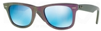 Ray Ban RB2140 Wayfarer Metallic Violet w/ Grey Mirror Blue Lenses