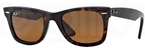 Ray Ban RB2140 Wayfarer Tortoise w/ Crystal Brown Polarized Lenses