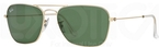 Ray Ban RB3136 (Caravan) Arista with Crystal Green Lenses