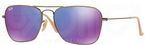 Ray Ban RB3136 (Caravan) Brushed Bronze Demi Shiny w/ Grey Mirror Purple Lenses