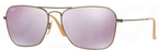 Ray Ban RB3136 (Caravan) Demiglos Brushed Bronze w/ Lillac Mirror Lenses