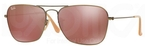 Ray Ban RB3136 (Caravan) Demiglos Brushed Bronze w/ Red Mirror Lenses