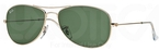 Ray Ban RB3362 Cockpit Arista Gold w/ Crystal Green Lenses