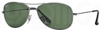 Ray Ban RB3362 Cockpit Gunmetal w/ Crystal Green Lenses