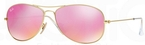 Ray Ban RB3362 Cockpit Matte Gold w/ Cyclamen Mirror Lenses