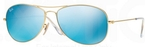 Ray Ban RB3362 Cockpit Matte Gold w/ Grey Mirror Blue Lenses  112/17
