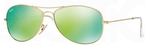 Ray Ban RB3362 Cockpit Matte Gold w/ Grey Mirror Green Lenses