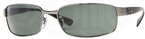 Ray Ban RB3364 Gunmetal w/ Crystal Green POLARIZED Lenses
