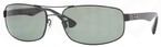 Ray Ban RB3445 Black w/ Polarized Crystal Green Lenses