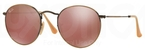 Ray Ban RB3447 Round Metal Demigloss Brushed Bronze with Red Mirror Lenses