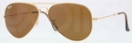 Ray Ban RB3479 Folding Wayfarer Arista with Crystal Brown Lenses