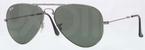 Ray Ban RB3479 Folding Wayfarer Gunmetal with Crystal Green Lenses