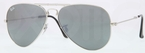 Ray Ban RB3479 Folding Wayfarer Silver with Crystal Grey Mirror Lenses