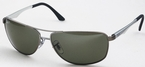 Ray Ban RB3506 Matte Gunmetal with Green Polarized Lenses