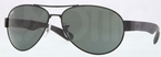 Ray Ban RB3509 Matte Black with Green Lenses