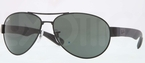 Ray Ban RB3509 Matte Black with Polarized Grey Mirror/Silver Gradient Lenses