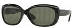 Ray Ban RB4101 Jackie Ohh Black w/ Crystal Green Polarized Lenses  601/58