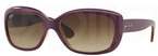 Ray Ban RB4101 Jackie Ohh Top Matte Violet on Transparent Sand w/ Gradient Brown Lenses