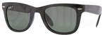Ray Ban RB4105 Black with Polarized Green Glass Lenses