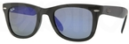 Ray Ban RB4105 Matte Black with Crystal Green, Blue Mirror Lenses
