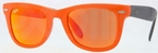 Ray Ban RB4105 Matte Orange with Crystal Brown/Orange Mirror Lenses