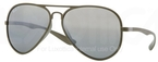 Ray Ban RB4180 Matte Military Green with Polarized Grey/Silver Mirror Gradient Lenses