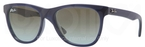 Ray Ban RB4184 Matte Blue with Crystal Blue Faded Brown Lenses