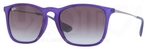 Ray Ban RB4187 Rubber Transparent Blue with Grey Gradient Lenses