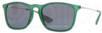 Ray Ban RB4187 Rubber Transparent Green with Grey Lenses